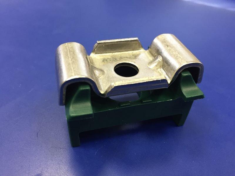 Kunststoffblock Doppelstabmattenzaun Pfosten Zaun Auflagebock Schwarz 50x Eck